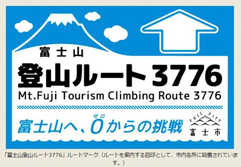 富士山登山ルート3776