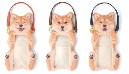 柴犬のスマートフォンポーチ