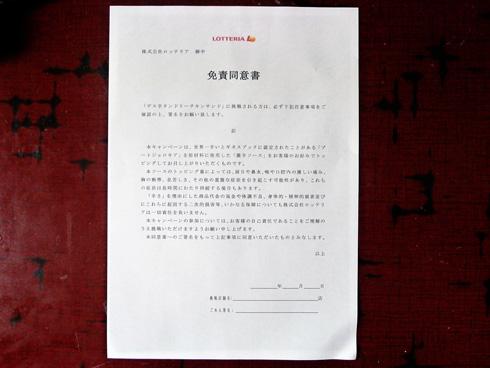 同意書の写真
