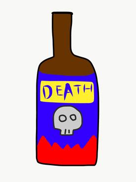 ドクロラベルの瓶