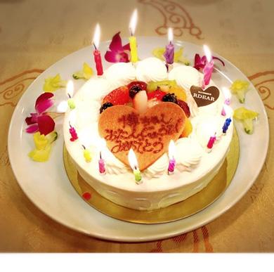家族から贈られたケーキ