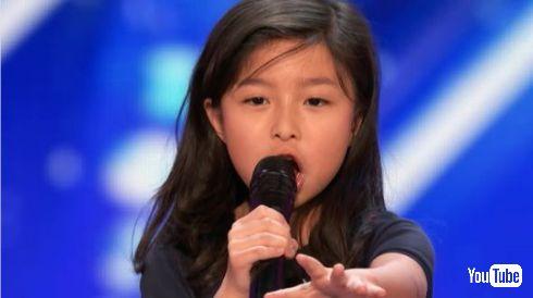 アメリカズ・ゴット・タレント 9歳 女の子 歌 セリーヌ・ディオン タイタニック