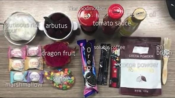食べ物メイク