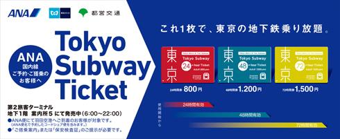 東京の地下鉄が全線乗り放題の「...