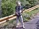 一体なぜ…… Googleストリートビューの山中にエレキギターを持った鹿男が写り込む