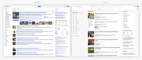 「Googleニュース」がデザイン変更