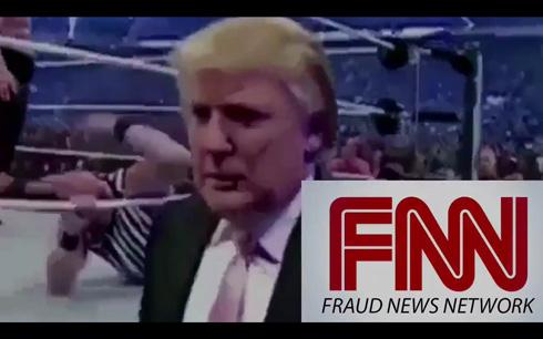 トランプ大統領、プロレス合成映像でCNNが批判