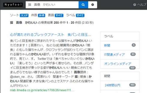 Nyafoo 検索サイト 開発
