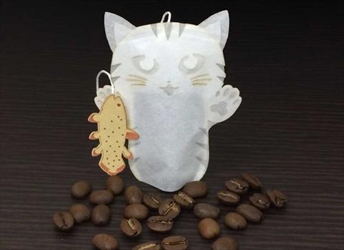 猫のコーヒーバッグ