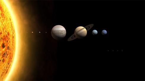 太陽系の画像