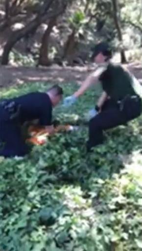 「アタマが抜けないの!」 容器に頭をつまらせた子グマを警察職員らが救助