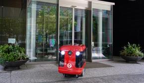 自動走行する宅配ロボット「CarriRo Delivery(キャリロデリバリー)」
