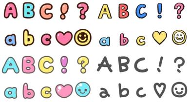 lineの絵文字に デコ文字 追加 ひらがな カタカナ アルファベットなど