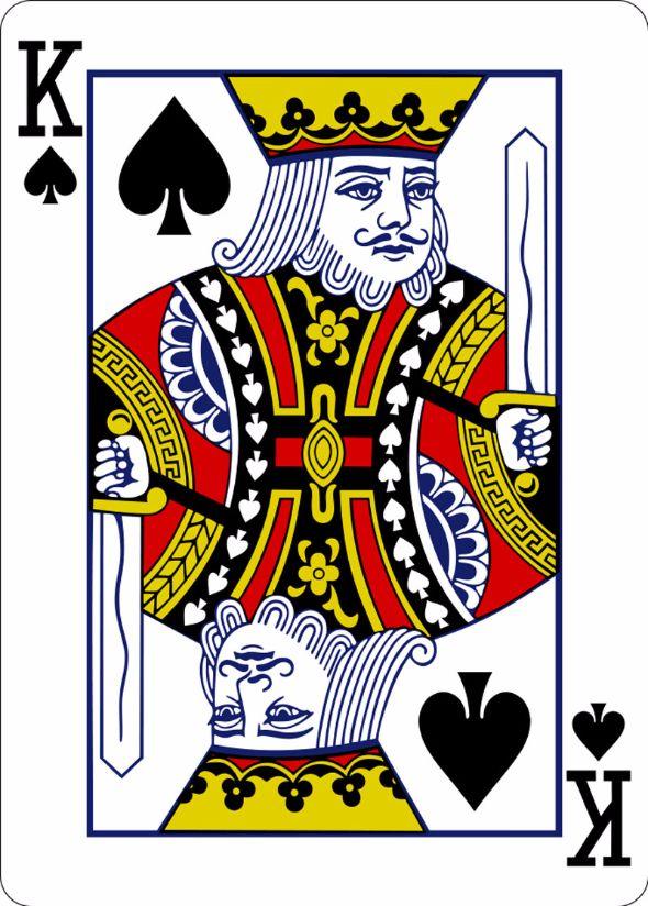 トランプの4枚のキング、実は全...