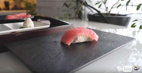 完成したお寿司
