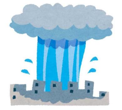 ゲリラ豪雨 予測 対策