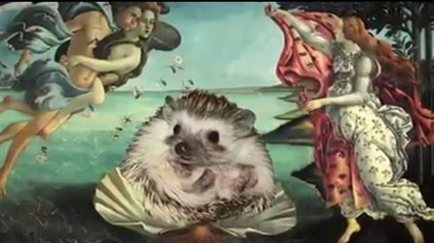 もしも美術史にハリネズミが登場したら? 名画に紛れ込む、ハリネズミアートがふしぎかわいい