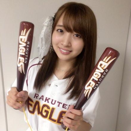 宮城県出身のSUPER☆GiRLS渡邉幸愛さんが楽天イーグルスの始球式に登板