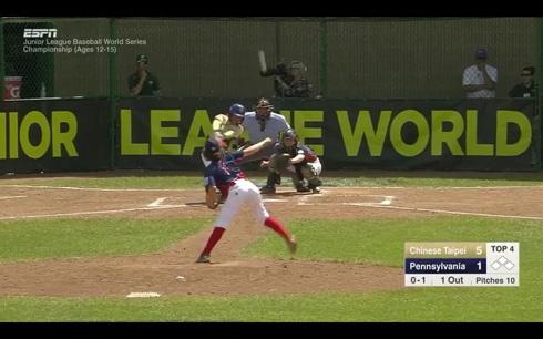 野球の国際大会「ジュニアリーグ・ワールドシリーズ」でスーパープレイ