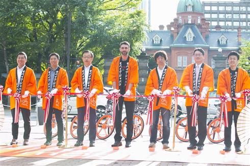 スマホアプリで乗り捨てできるレンタサイクル「Mobike」が日本上陸! セイコーマートなどと連携
