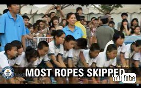 ギネス世界記録「最多ロープ長縄跳び」