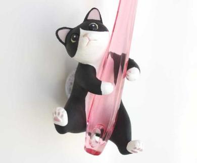 はなさないニャー ギュッと歯ブラシホルダー フェリシモ猫部