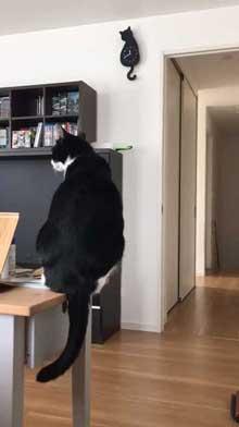 猫型 振り子時計 猫 尻尾