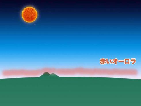 日本 オーロラ 観測 太陽フレア