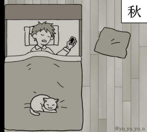 ネコで感じる四季 漫画 猫 季節