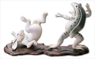 鳥獣戯画フレーム切手