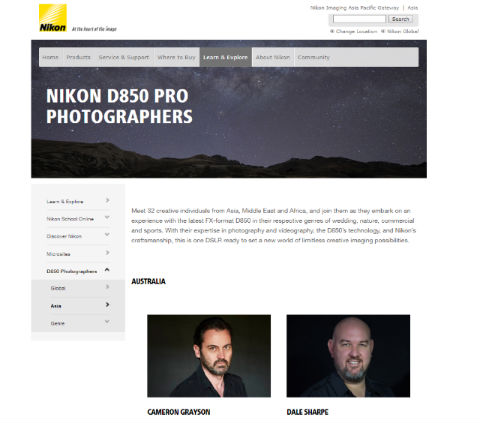 Nikon Asia キャンペーン