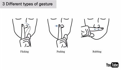 鼻をこすって操作するウェアラブルメガネが開発される さり気なくスマホを操作したいときなどに活躍しそう