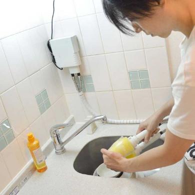 食器洗い ツインブラシ 電動 サンコー