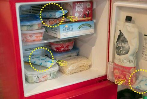 限定 ブラックモンブラン DO NOT EAT 保冷剤 擬態