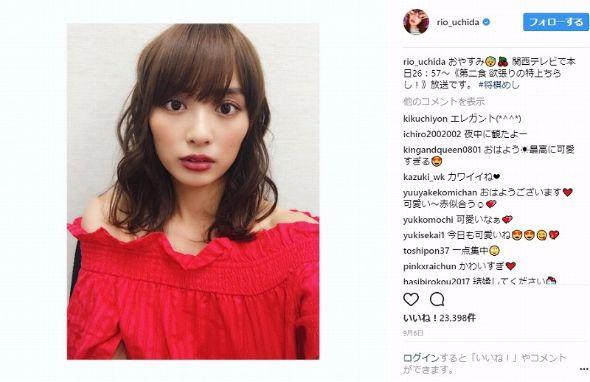 内田理央 幼少期 過去 誕生日 年齢 Instagram
