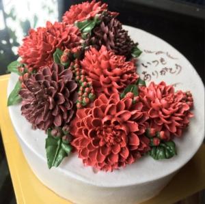 ダリアのケーキ