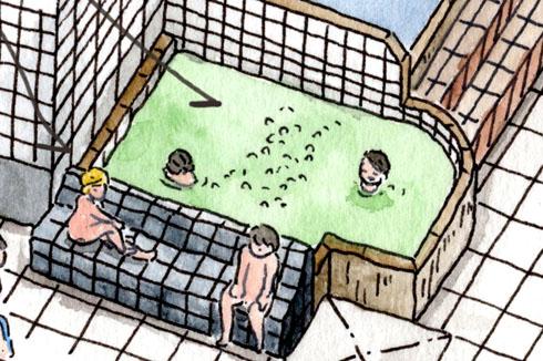 萩の湯 鶯谷 銭湯 交互浴