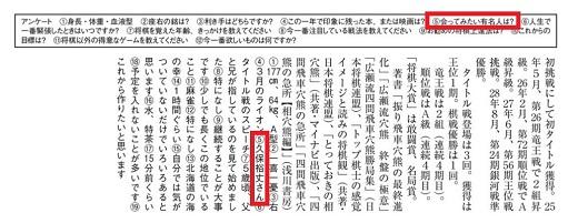 将棋年鑑の棋士名鑑