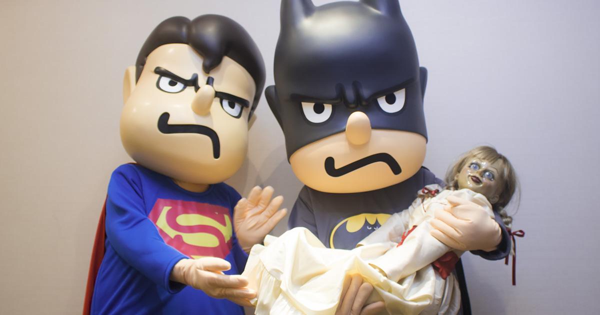 「吉田ジャスティス・リーグ」バト田とスパ田、死霊人形と世にも奇妙なコラボをしてしまう