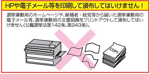 印刷物頒布禁止の説明図