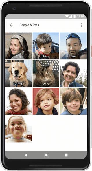 Googleフォト、犬や猫のラベル付け、グルーピングに対応