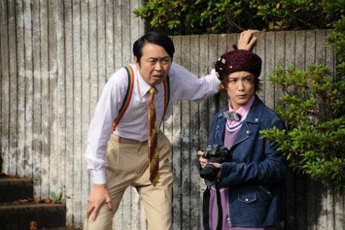 仮面ライダー 大杉忠太の田中卓志さんとJK役の土屋シオンさん