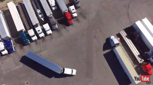 トレーラー駐車バック