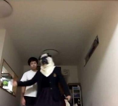 姉 弟 動画 撮影 視線 冷めた目 踊る