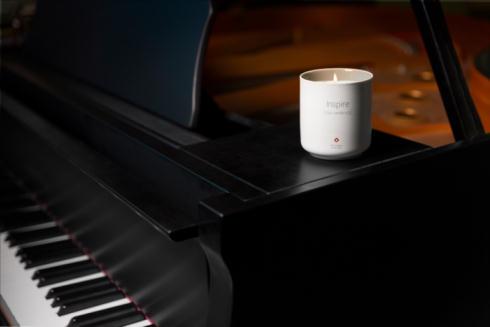 キャンドルとピアノ