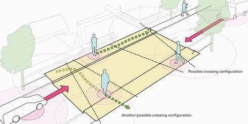 横断歩道 自動 表示