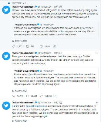 トランプ大統領 Twitter