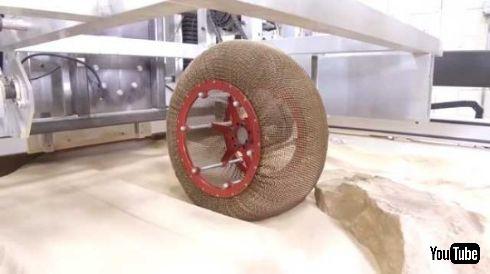 NASA タイヤ 火星 チェインメイル