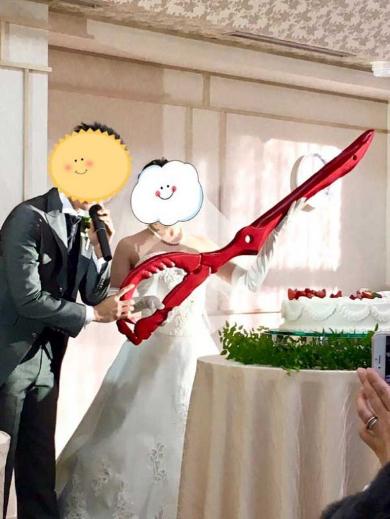 結婚式 片太刀バサミ キルラキル ケーキ入刀