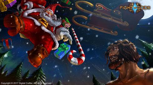 サンタが町にやって来た